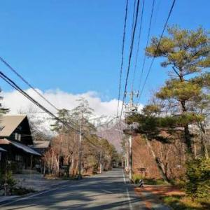 なかなか雪が降らない白馬村に少しだけ雪が舞いました