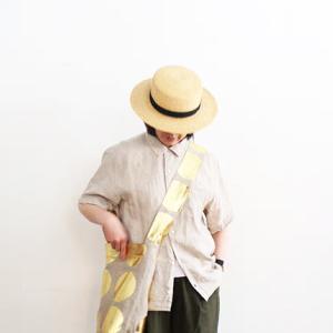 無印良品 今日はメンズの開襟シャツを夫婦兼用。
