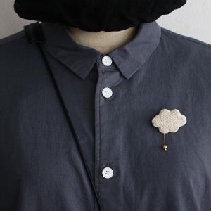 無印良品 番外編 作家好きに見て欲しい!雲の刺繍のブローチ