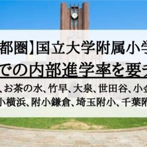 【小学校受験】国立大学付属小学校の内部進学率について(筑波、お茶の水、学芸大附属など)