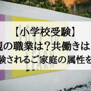 【小学校受験】親の職業は?共働きは?お受験するご家庭の属性を考察。