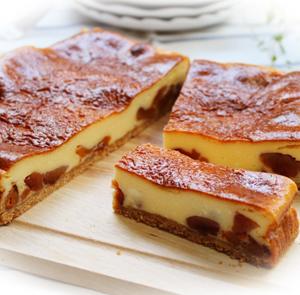 干し柿の濃厚チーズケーキ