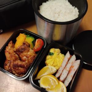 男子高校生のお弁当 今日のメインは唐揚げ