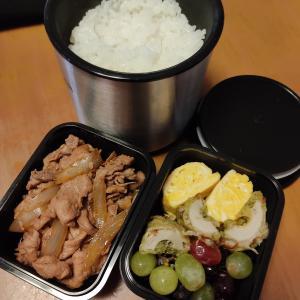 男子高校生のお弁当 今日のメインは豚肉の生姜焼き