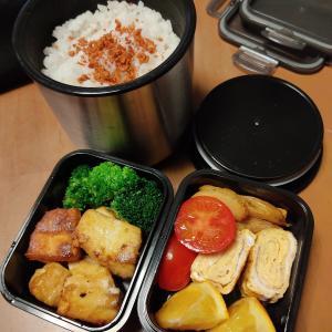 男子高校生のお弁当 今日のメインはお豆腐の唐揚げ