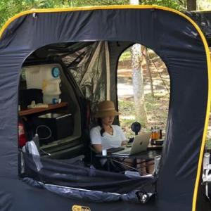 車とテントを連結できるCARSULE(カースル)。未来のキャンプスタイル