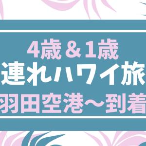 4歳と1歳の子連れハワイ旅行記①羽田空港~到着まで