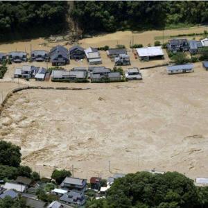 球磨川が氾濫!