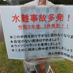【郡上】新美並橋下流で釣る方は気を付けて!