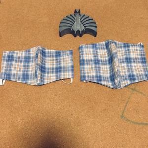 着られなくなった子供服で布マスクを作ってみました