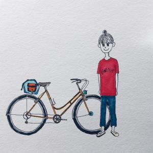 自転車の絵ばかり描いている