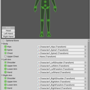 【Unity】3Dモデルの関節のTransformをAnimatorコンポーネントから取得する(GetBoneTransform)