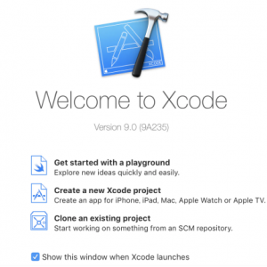 【Swift】「Get started with a playground」が「Welcome to Xcode」画面に表示されてない件