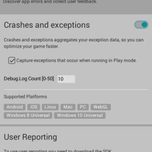 【Unity】Unity Cloud Diagnosticsを導入してクラッシュ・例外レポートを収集する