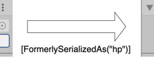 【Unity】変数名を変えてもインスペクターの値を引き継ぐFormerlySerializedAsAttributeについて