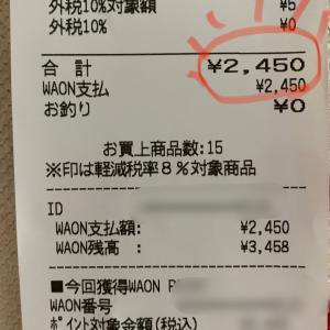 母親に心配された食費と家計簿締めました(*'ω'*)