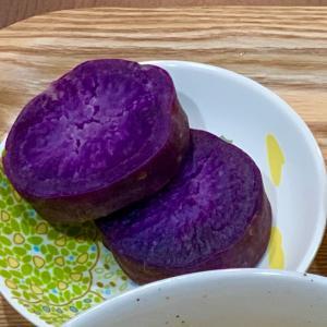 紫強め〜☝️まるころ家の食卓〜∥(*゚~゚*)モグ モグ