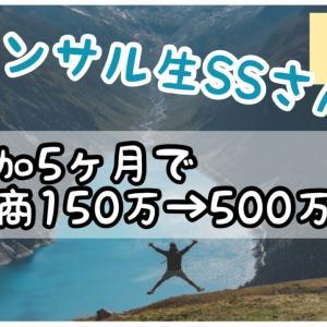 コンサル生SSさんがコンサル参加5か月でヤフショ月商150万→500万弱へ!