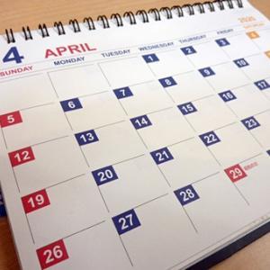 ダイソーの3年間使える卓上カレンダーを愛用中。