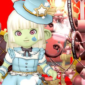 【ドワ子のドレア】ミニハットなアリス風コーデ