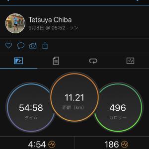 2020/9/8 血豆の様子見しながら坂道ジョグ