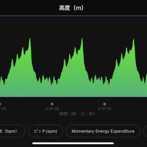 2021/7/23 坂道ジョグ、プールでの平泳ぎ(ライク)エクセサイズ