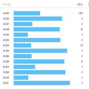 2021/8/29 ウエーブ走 14km、今日も快晴で寒い朝
