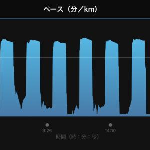 2021/9/7 久しぶりのショートインターバル走、加えて初の300m x 12本、からのガチユル走