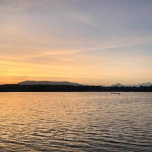 2021/9/8 綺麗な朝焼けのもと、湖岸をEペースジョグ