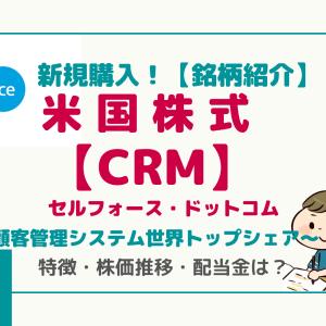 新規投資!【CRM】セールスフォース/SaaSベースのクラウド顧客管理 世界トップシェア/サブスクリプション方式で安定収入!