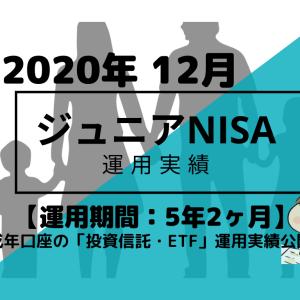 トータルリターン+13.4万円【未成年口座/ジュニアNISA】2020年12月投資信託・米国ETFの運用成績を公開!【運用期間5年2ヶ月】