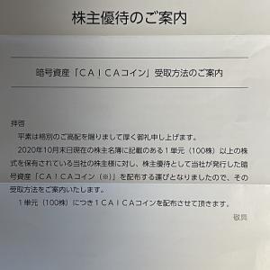 株式会社CAICAから株主優待が届く