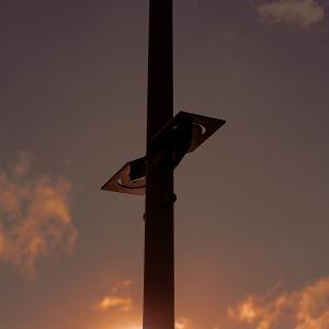 波際の街燈