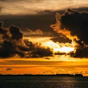 Seaside nightfall
