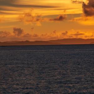 Island that shines in orange