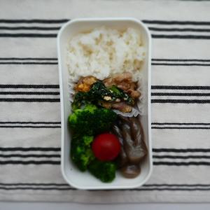 5/13自分弁 小松菜と豚肉の甘辛炒め