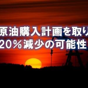 米は原油購入計画を取り下げ 需要20%減少の可能性