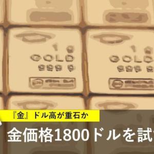 金価格1800ドルへ? ドル高が重石か