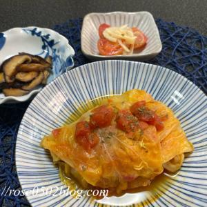 春キャベツのロールキャベツ・椎茸のソテー