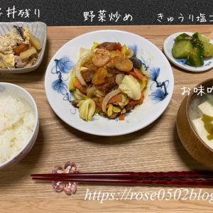 残り野菜でシンプル野菜炒め