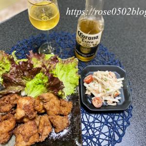 ミニバラ・夜ごはん(ジューシー鶏の唐揚げレシピ)