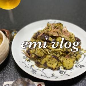 【vlog・日常・料理】夜ごはん/ジェノベーゼパスタ・野菜スープ