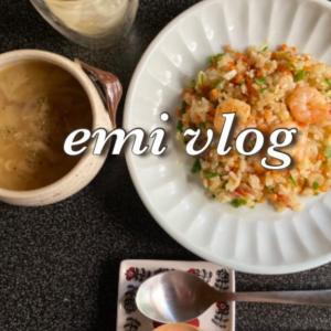 【vlog・日常・料理】お昼ごはん/炒めエビピラフ