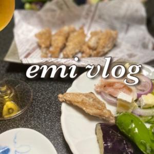【vlog・日常・料理】お昼ごはん/金麦『あいあい皿』で一人晩酌・おつまみ