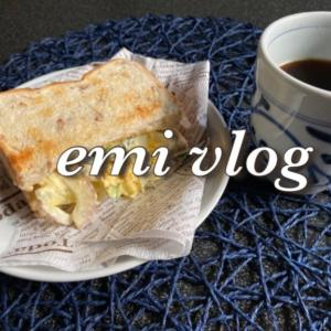 【vlog・日常・料理】お昼ごはん・トーストサンド/夜ごはん・一人焼肉