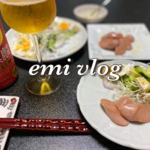 【vlog・日常・料理】一人晩酌/おつまみ・素朴なお魚ソーセージ