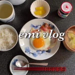 【vlog】一人暮らしの素朴な朝ごはん