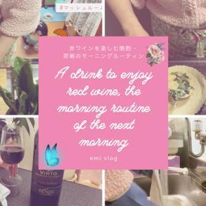 【40代一人暮らしvlog】赤ワインを楽しむ晩酌/翌朝のちょっとしたモーニングルーティン