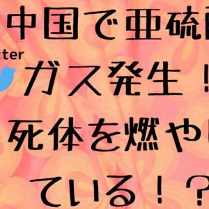 中国で亜硫酸ガス発生!死体を燃やしている!?【Twitterの情報まとめ】