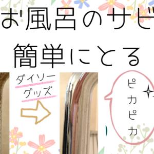 お風呂場に斑点状にサビが…それは【たった110円で解決出来ます】